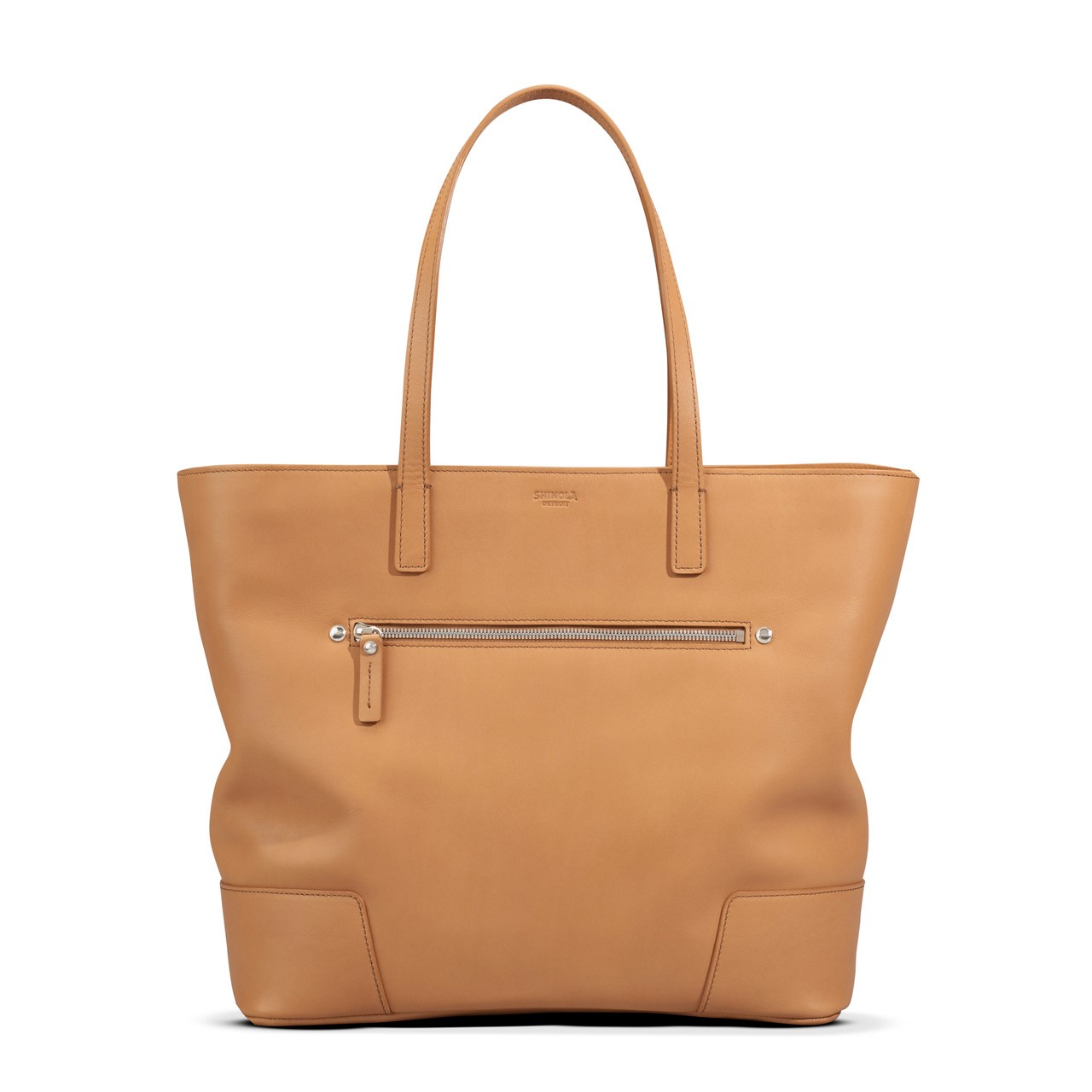 Shinola Nappa Zip Shoulder Tote in Camel  // Price: $895 // Purchase at Shinola.com  // (Photo: Shinola)