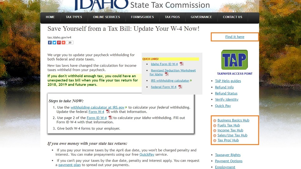 Idaho tax commission offers help calculating withholding | kboi.