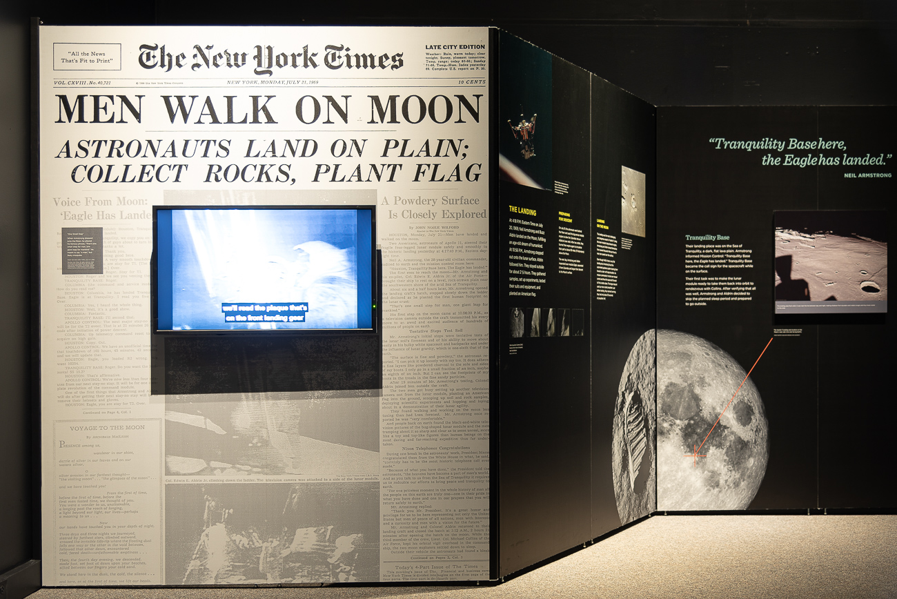 50 years ago, Americans landed on the moon and made history. Destination Moon: The Apollo 11 Mission compiles over 20 authentic artifacts from the mission, including the actual Apollo 11 command module Columbia, deep within the Cincinnati Museum Center. The exhibition takes a look at the history of the first lunar landing, as well as the years leading up to the fateful Apollo 11 mission and the thousands of people at NASA who made it a reality. Destination Moon is scheduled to remain at the Museum Center until February 17, 2020. MUSEUM ADDRESS: 1301 Western Ave (45203) / Image: Phil Armstrong, Cincinnati Refined // Published: 10.2.19