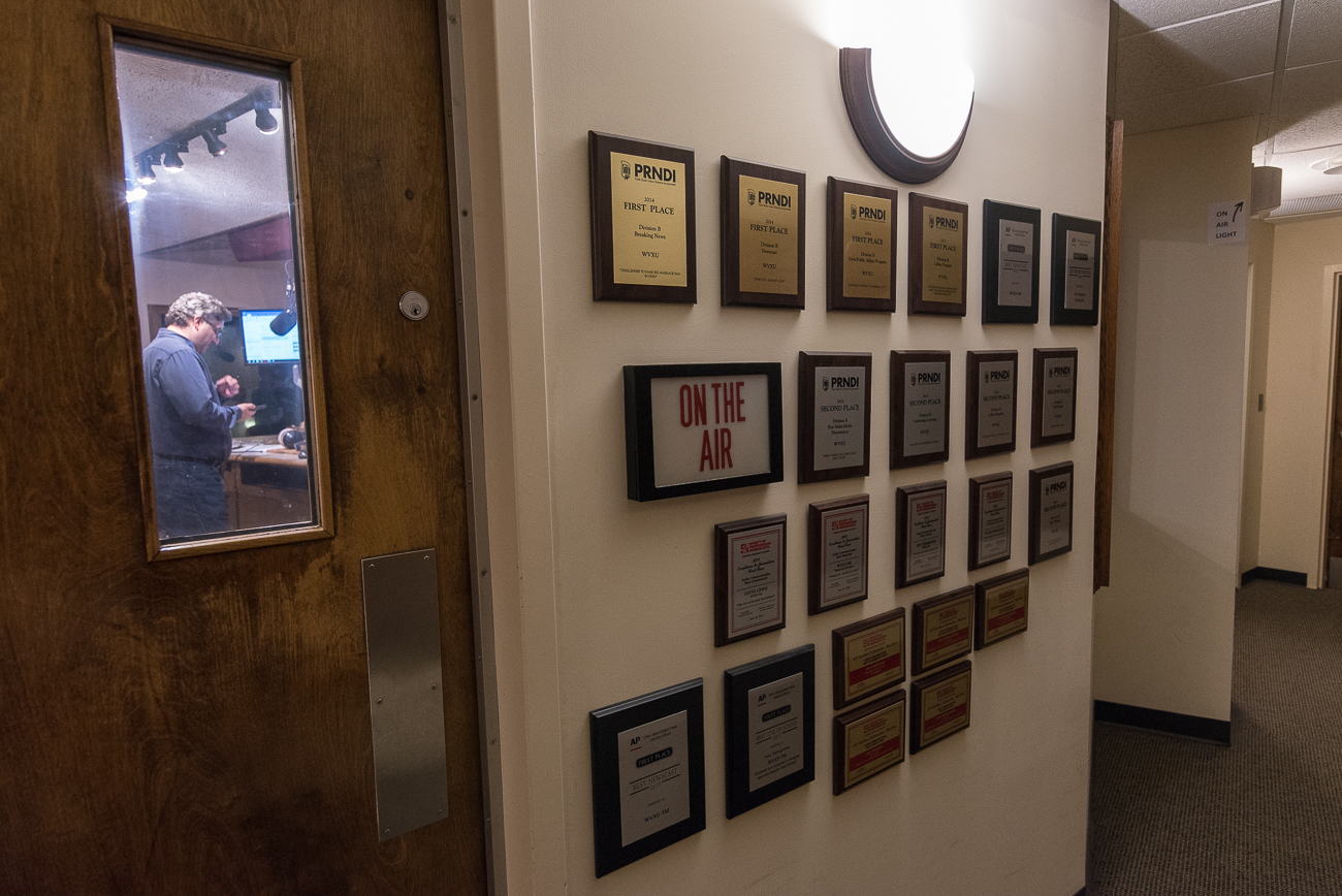 Accolades line the wall outside of the main recording studio / Image: Phil Armstrong, Cincinnati Refined // Published: 12.12.17