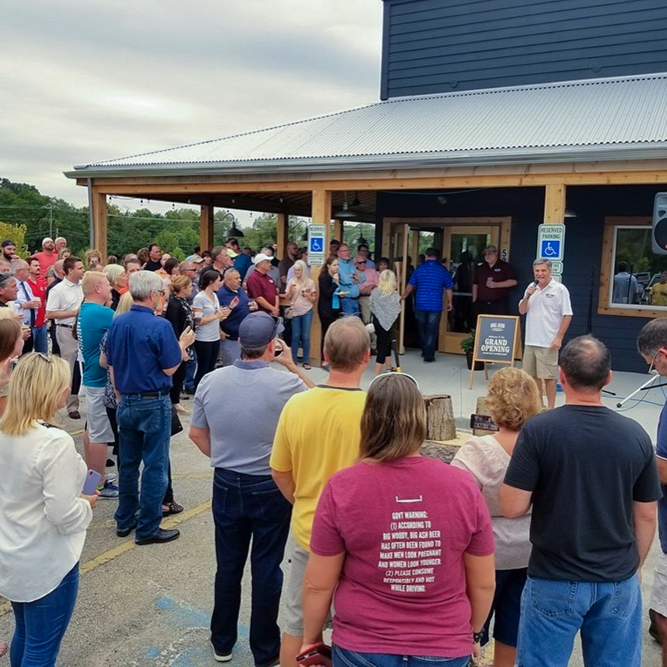 Beer lovers packed into Big Ash for the brewery's opening weekend that kicked off on Friday, September 6. In addition to a whiskey bar, they also have plans to  include live music and a golf simulator. / Image courtesy of Big Ash Brewing // Published: 9.25.19