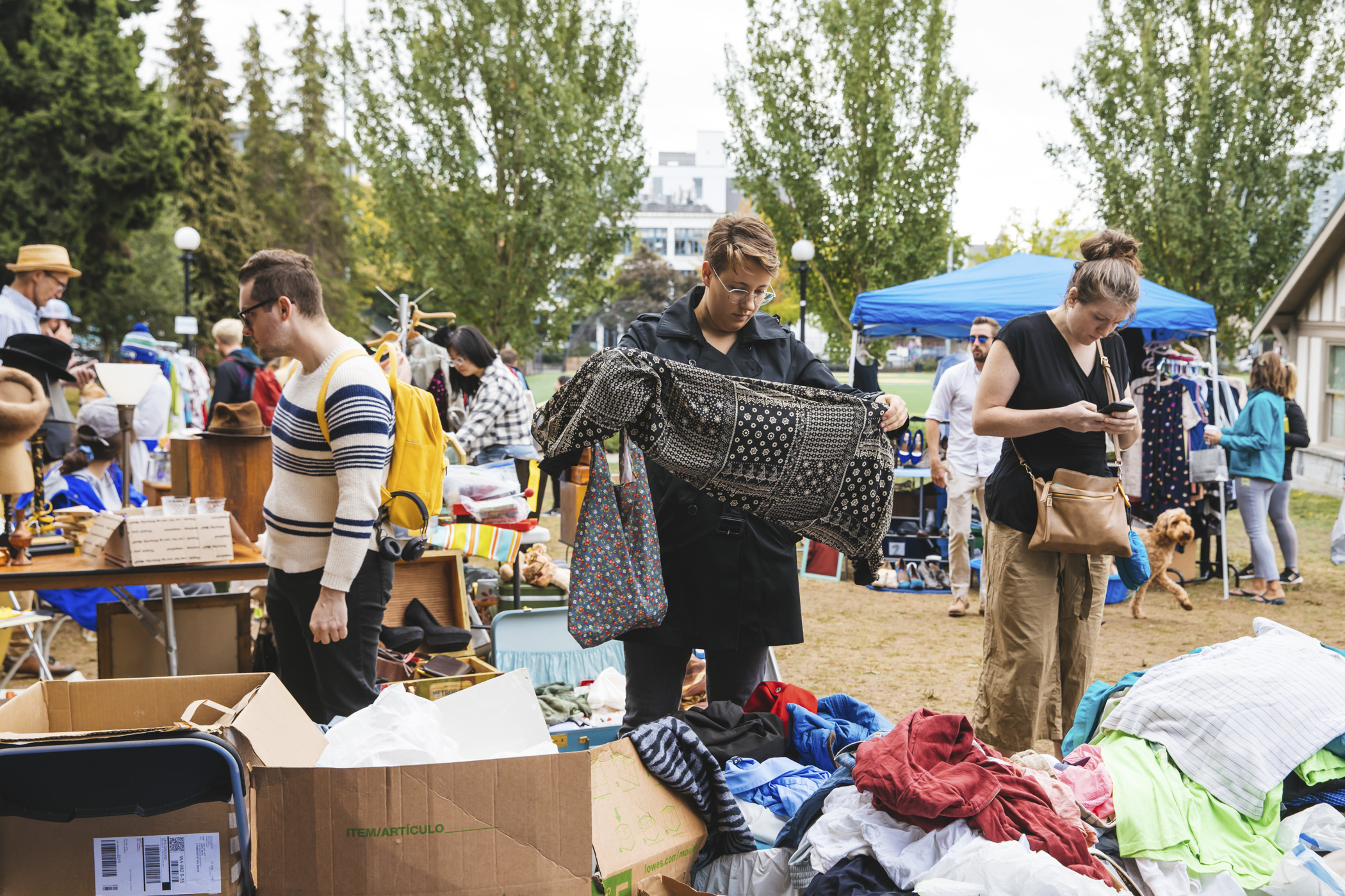 The finds at the Capitol Hill Garage Sale this season were soooooo Seattle. Bargain-hunters and apartment dwellers alike gathered together to show off their treasures at Seattle's longest running community-wide garage sale in Cal Anderson Park! (Image: Sunita Martini / Seattle Refined)