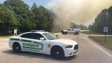 Brush fire in Vero Beach near Sheriff's Office