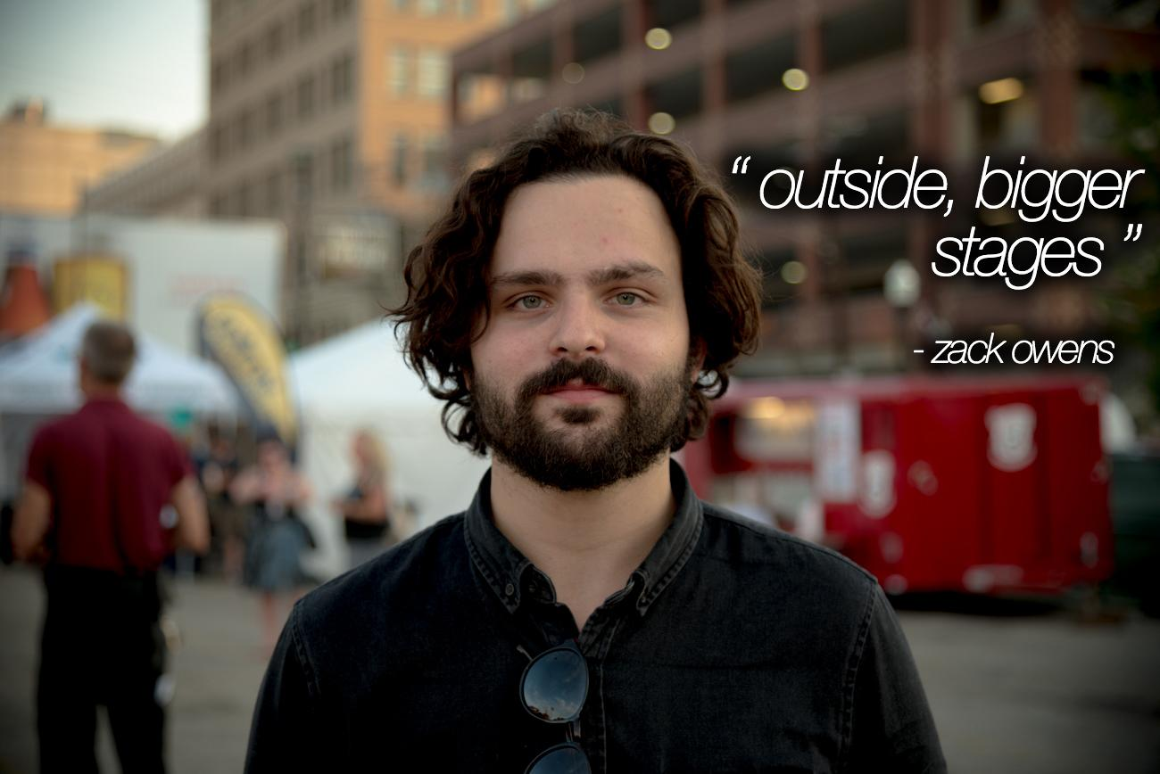 """Outside, Bigger Stages"" - Zack Owens (of the band 'Ona') / Image: Phil Armstrong, Cincinnati Refined"