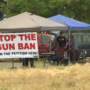 """Stop the Gun Ban:"" Petitioners gather signatures against firearms restrictions"
