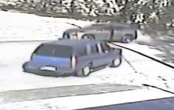 Police say they are looking for a mid-90s Chevy Suburban or Tahoe with running boards and an aftermarket paint job