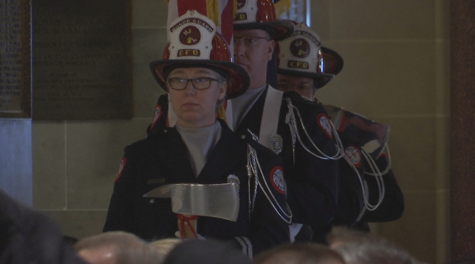 Firefighters Day at the Missouri State Capitol was held Wednesday morning.{ }(Stephanie Hirata/KRCG 13)