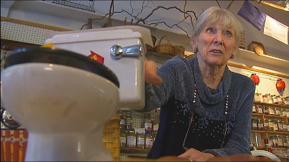 Olympia biz owner Ann Buck homeless problems (KOMO) potty_big.jpg