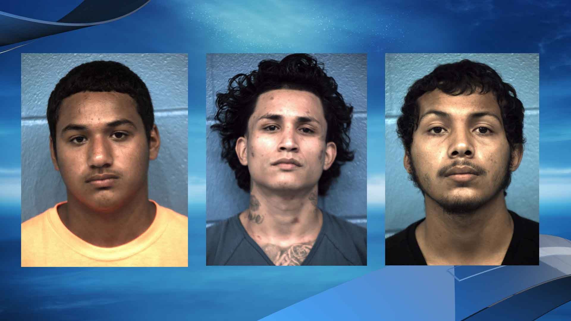 Javier Vences, 17, Flavio Castelan, 26, Miguel Vences, 18, and the juvenile are now facing the charge of burglary f a habitation, a second degree felony. (Photos courtesy: Williamson County Sheriff's Office)