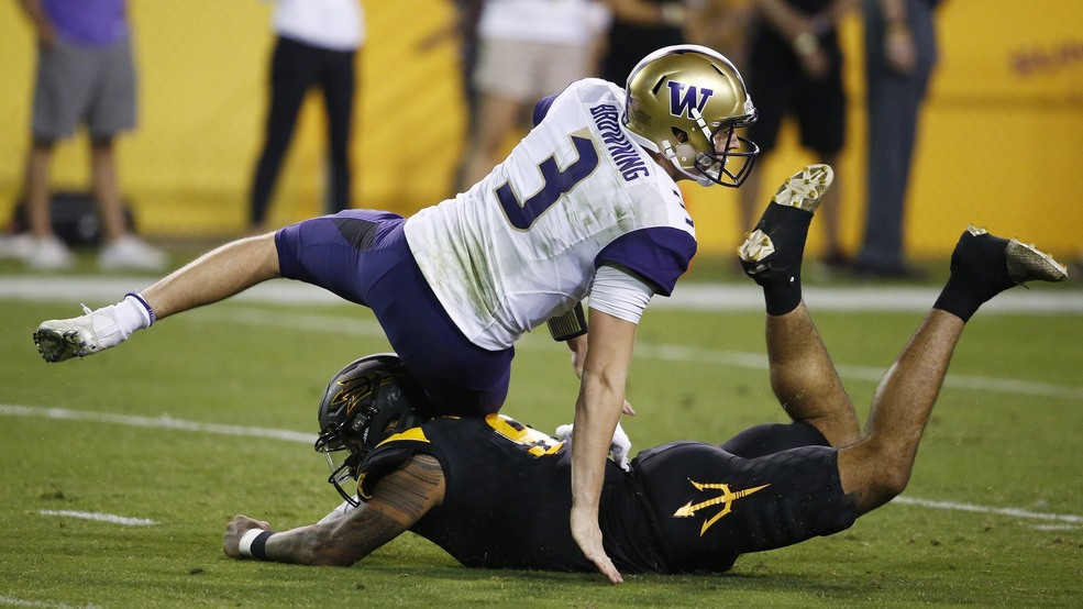 Stymied in the desert again: Huskies fall to Sun Devils 13-7