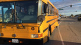 School district: Everyone OK in bus crash with pickup truck