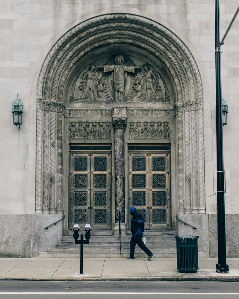 We All Rage in Gold. The immaculate doors of the St. Louis Church. February 4, 2016 / Image: Corey Stevens