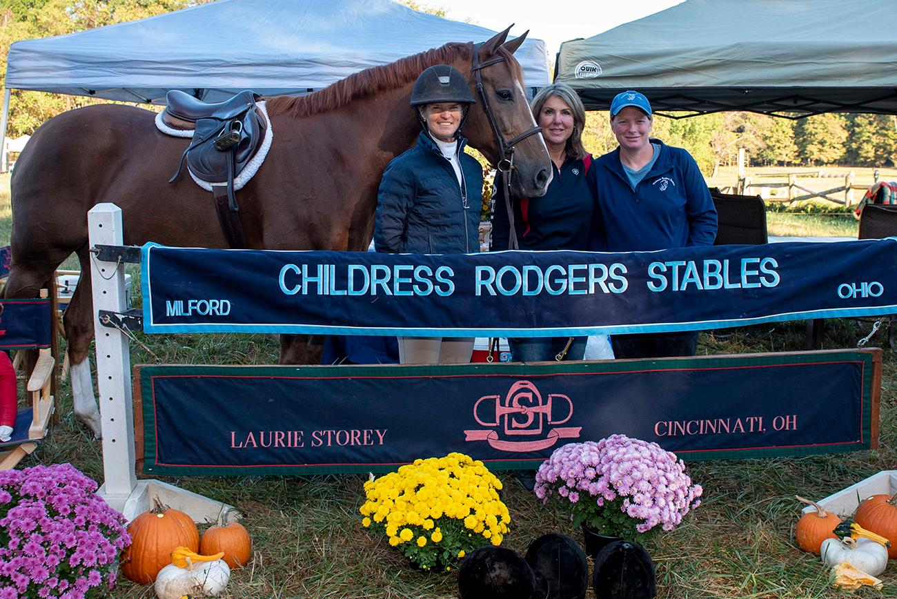 Laurie Storey, Kim Mihelson and Jane Schimweg with their horse, Jack{ }/ Image: Joe Simon // Published: 10.6.19
