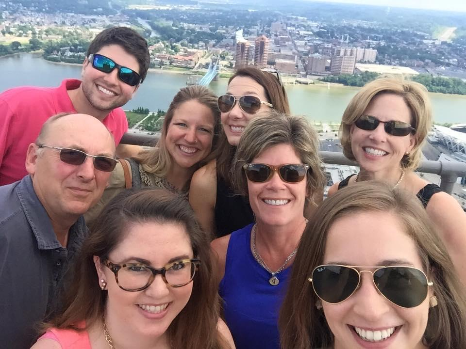 According to Julie Calvert, the CVB always begins any national media tours of the region with a trip to the Observation Deck at Carew Tower because it offers one of the best views in Cincy. / Image courtesy of the Cincinnati Visitors Bureau // Published: 9.4.18<br>