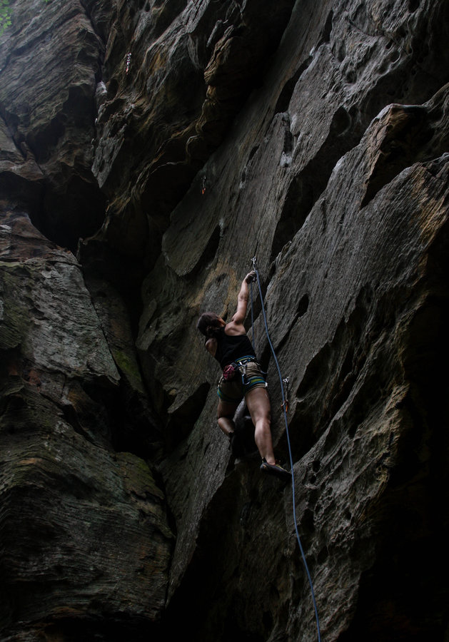 "Story: ""Discover The Wonder of Rock Climbing at Red River Gorge"" / Location: Drive By Crag, Pendergass Murray Recreational Preserve, Red River Gorge / Image: Gerry Seavo James"