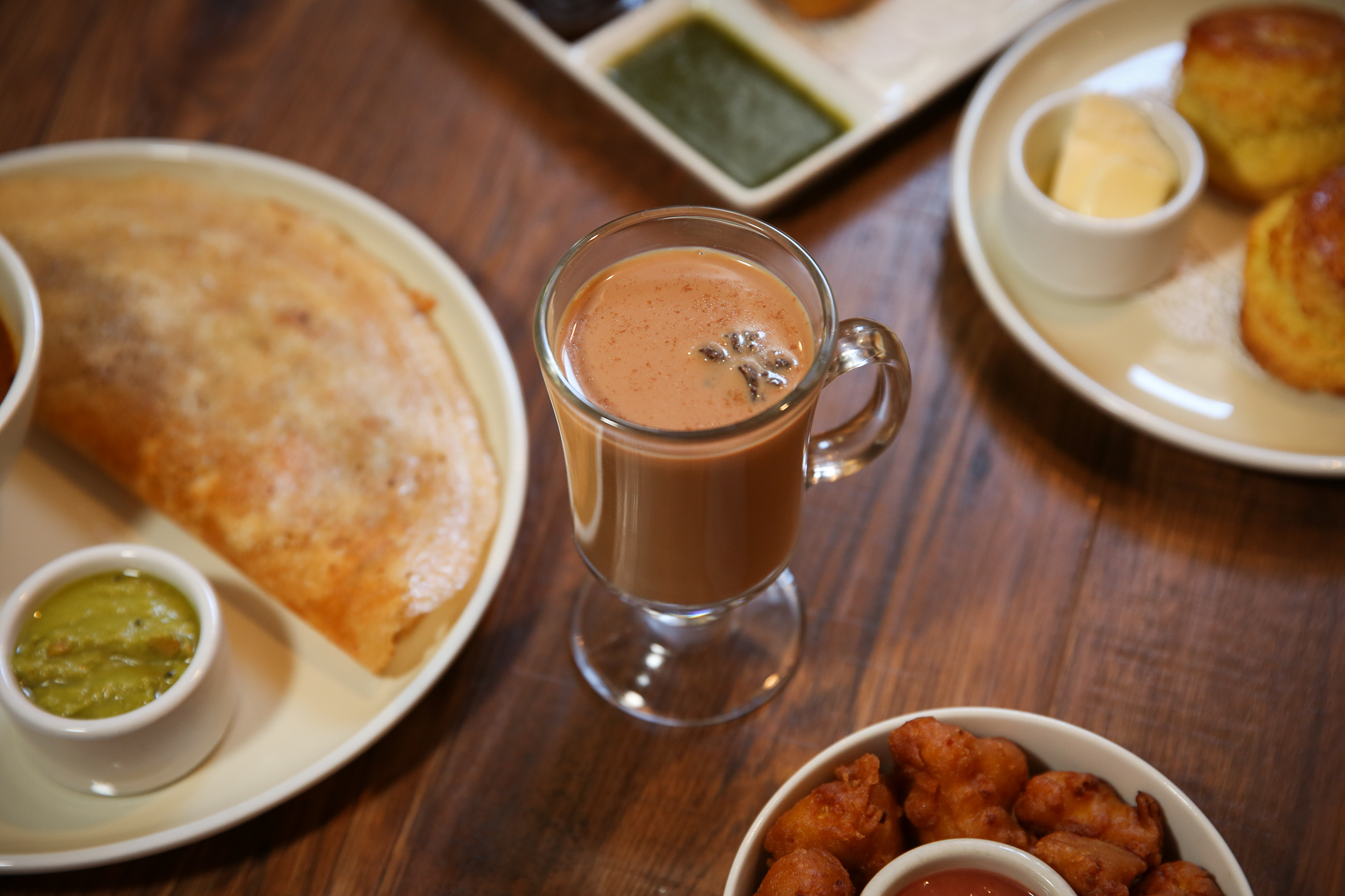 Bindaas Foggy Bottom offers the cutting chai menu Sunday to Friday from 3-5 p.m.(Image: Amanda Andrade-Rhoades/ DC Refined)