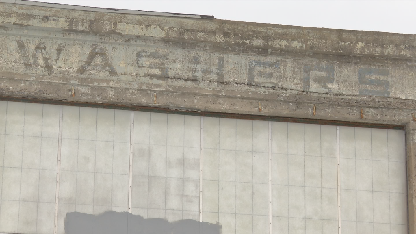 The former &quot;Washers&quot; sign can still be seen near the intersection of Solar and Spencer St. (Brett Hall/CNYCentral)<p></p>