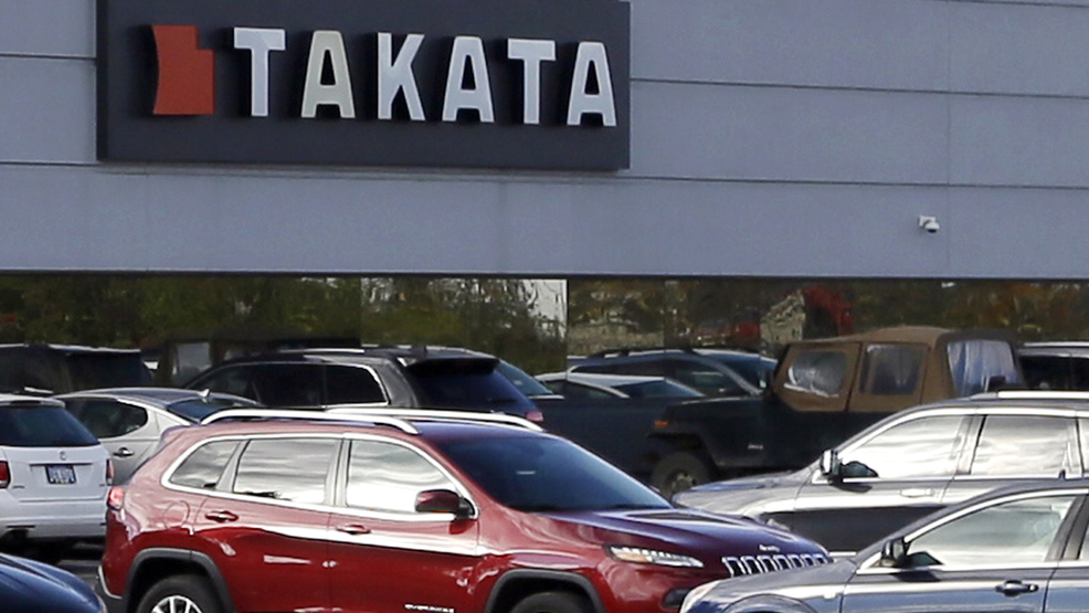 This Oct. 22, 2014, file photo, shows the North American headquarters of automotive parts supplier Takata in Auburn Hills, Mich.