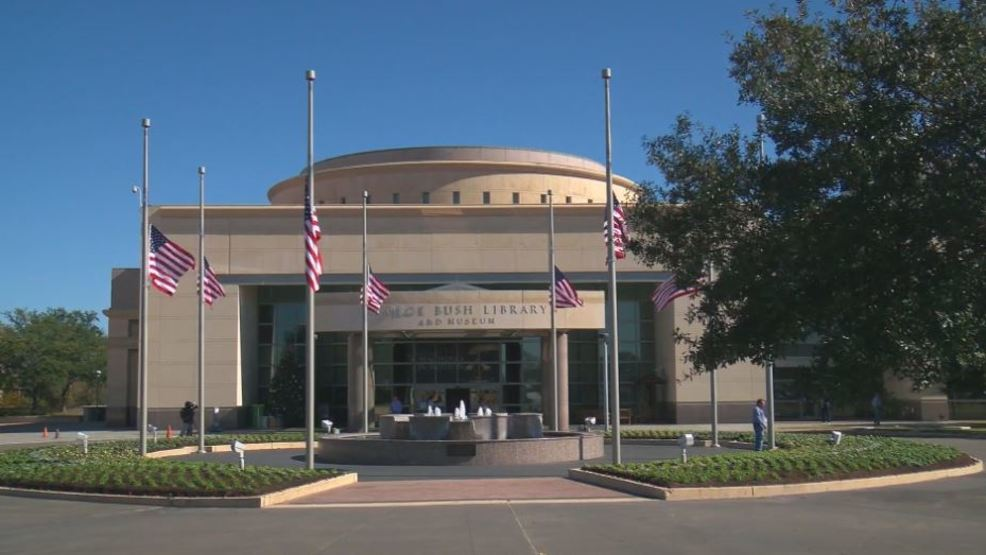 Visitors Pay Respects To George H W Bush At Presidential Library