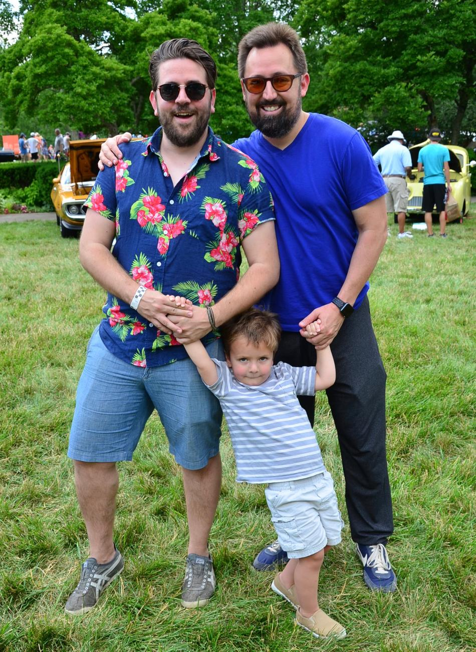 James Parent and his son Bruce with friend Tony Alexander / Image: Leah Zipperstein, Cincinnati Refined // Published: 6.12.17