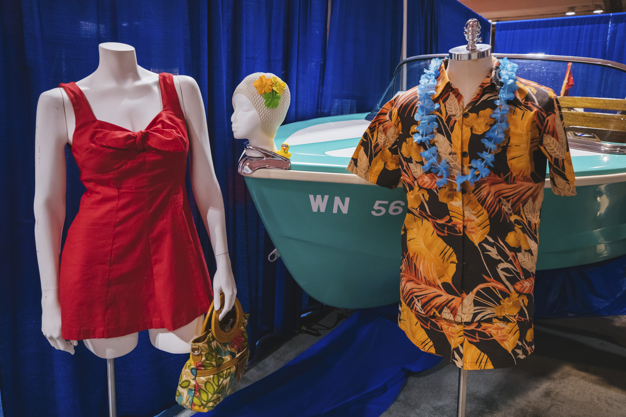 The 1980s shied away from the bikini. Inspired by the aerobic fitness craze one piece suits raised the leg line high, lowered the neck line and scooped the back. Neon color block was popular. (Image: Sunita Martini / Seattle Refined)