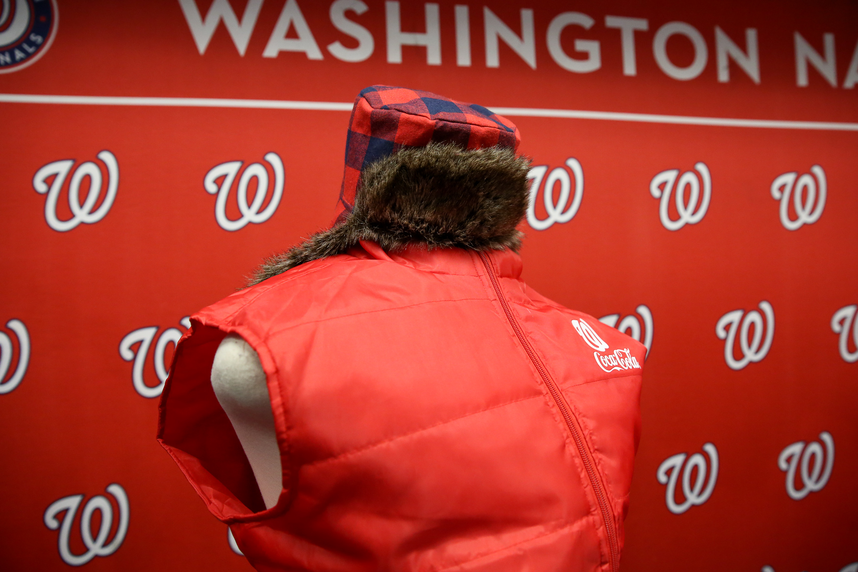 This kid's hat is one of the many new apparel offerings. The puffy vest will be up for grabs for the first 20,000 fans who come to The Nats' game against the Cleveland Indians on September 29. (Amanda Andrade-Rhoades/DC Refined)