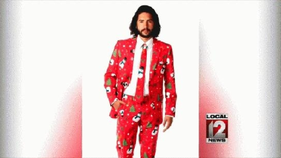 the cooler ugly christmas sweater suit wkrc - Christmas Sweater Suit