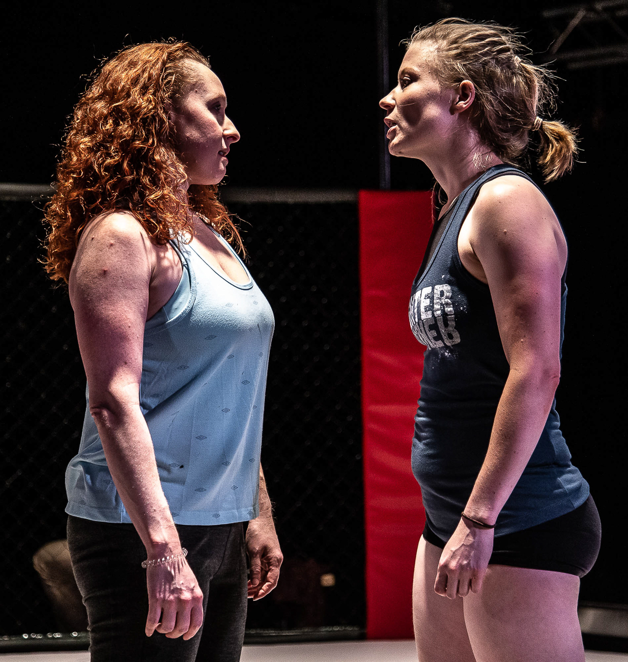 Tess Talbot and Mindy Heithaus / Girl in the Red Corner by Stephen Spotswood plays every Wednesday through Sunday from July 26 to August 17 at Know Theatre in Over-the-Rhine. ADDRESS: 1120 Jackson Street (45202) / Image: Daniel Winters Photography // Published: 7.31.19