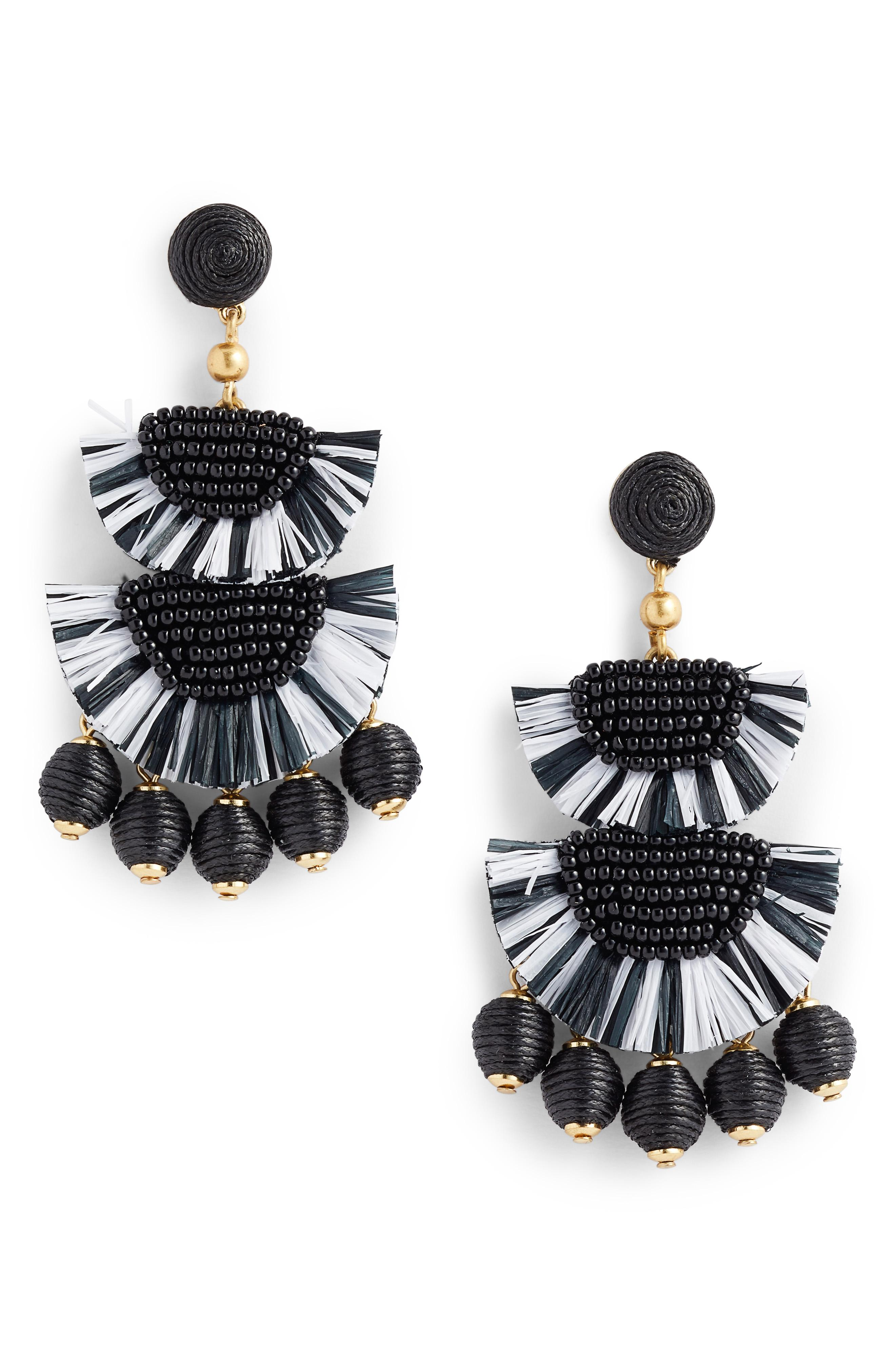J. Crew Bead & Raffia Earrings -- Sale: $42.90 / After Sale: $65{ }(Image: Courtesy Nordstrom)