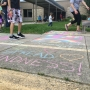 Community leaves kind messages in 'Chalk the Walk' event