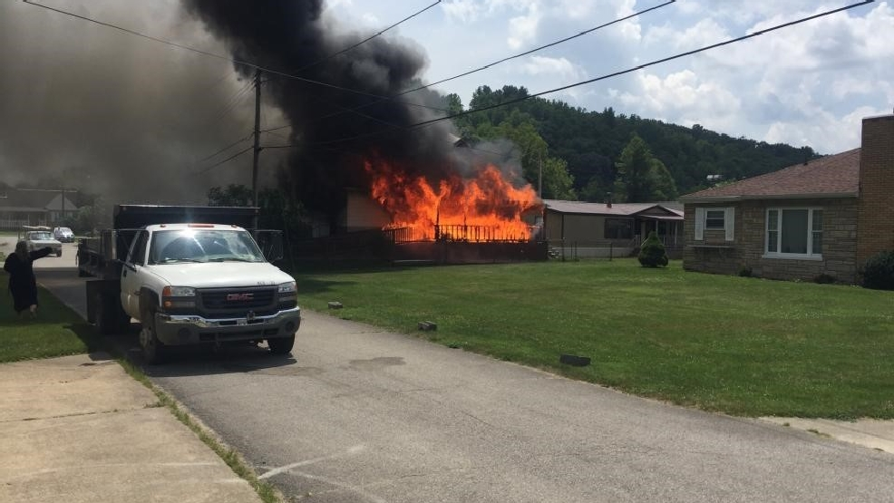 Crews responding to four-alarm fire at Elkview residence   WVAH