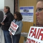 School district employees in Brockport rally Tuesday