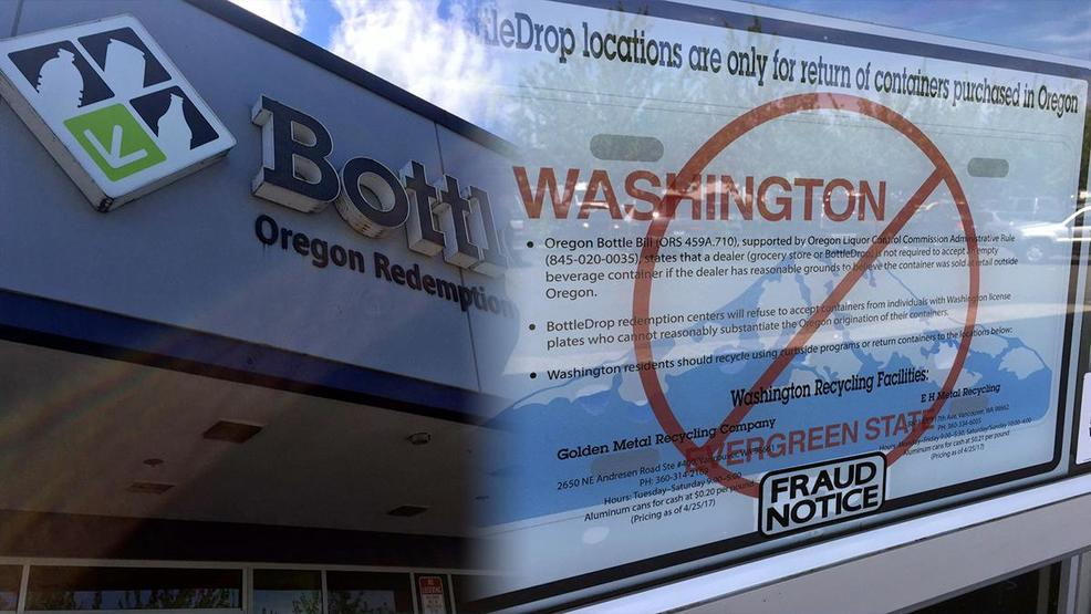 Oregon considering fine for people in Washington trying to redeem