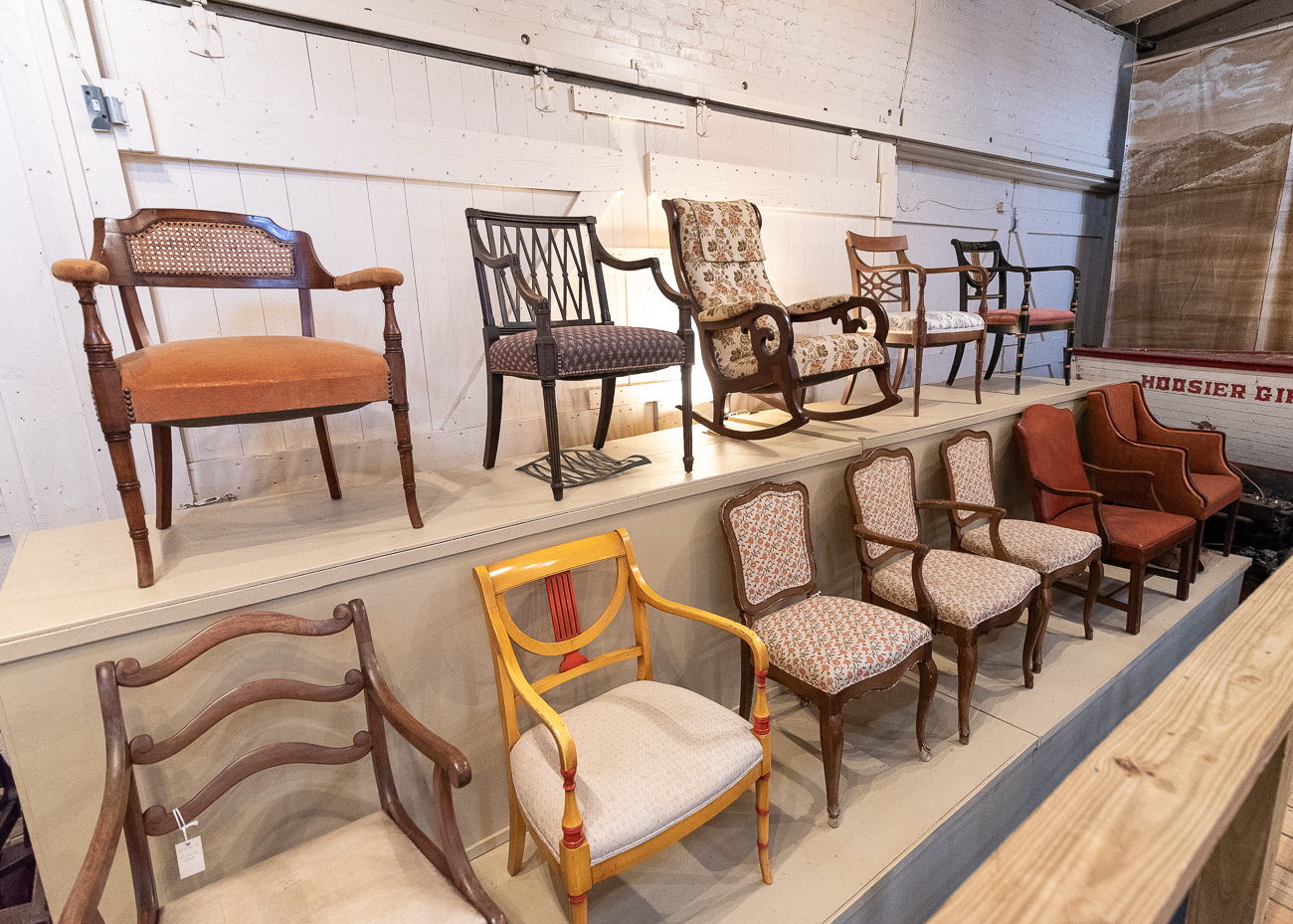 Whitlock's business, the Whitlock Furniture Company, made beautiful furniture that was shipped all over the United States. Several of the chairs on display in the Whitlock Gallery were purchased from residents as far south as Florida. / Image: Phil Armstrong, Cincinnati Refined // Published: 1.7.20