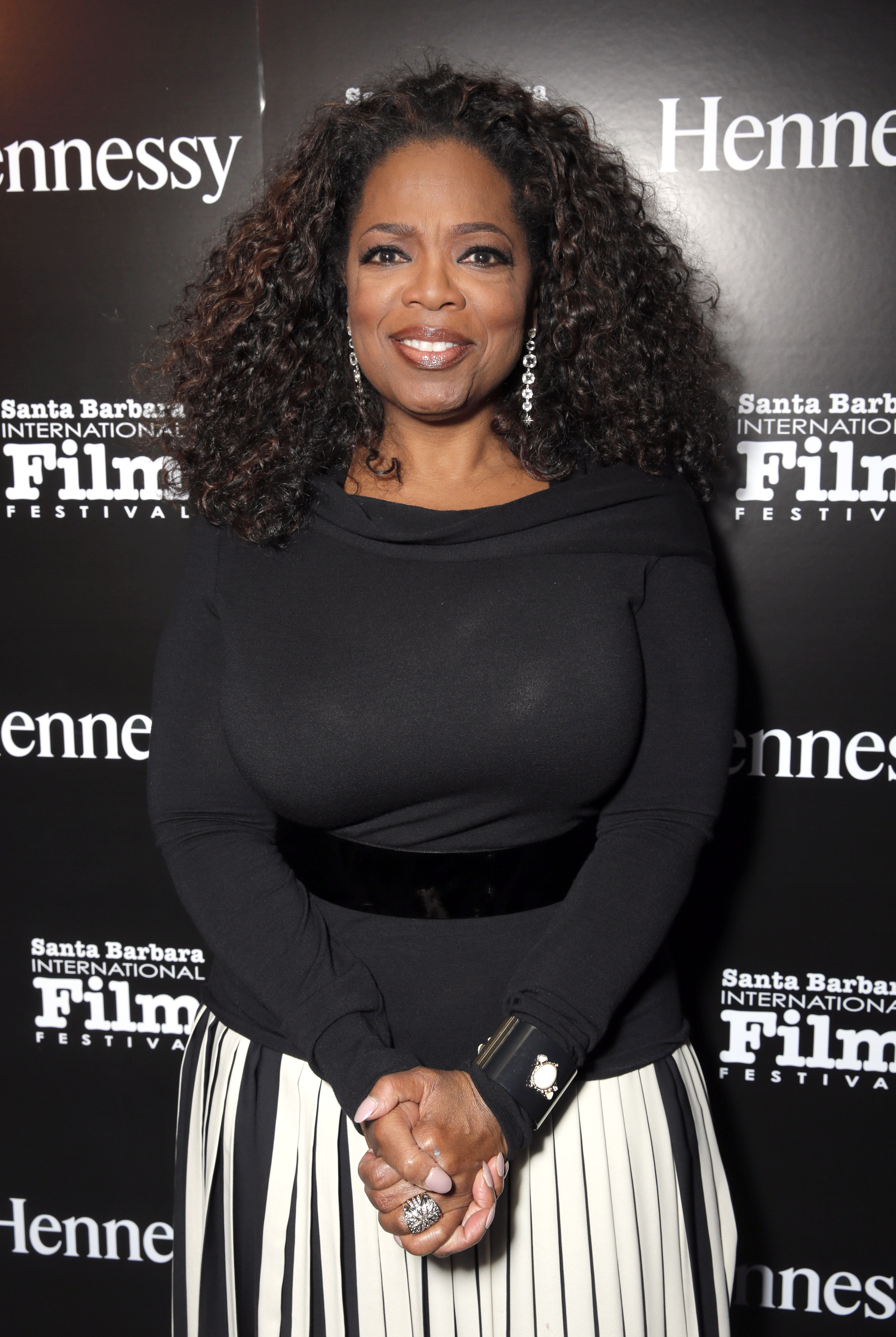 Oprah Winfrey attends the Hennessy Privilege VIP post-party at the Santa Barbara International Film Festival after receiving the Montecito Award at the Arlington Theatre on Wenesday, February 5, 2014 in Santa Barbara, California (Photo by Todd Williamson/Invision for Hennessy/AP Images)