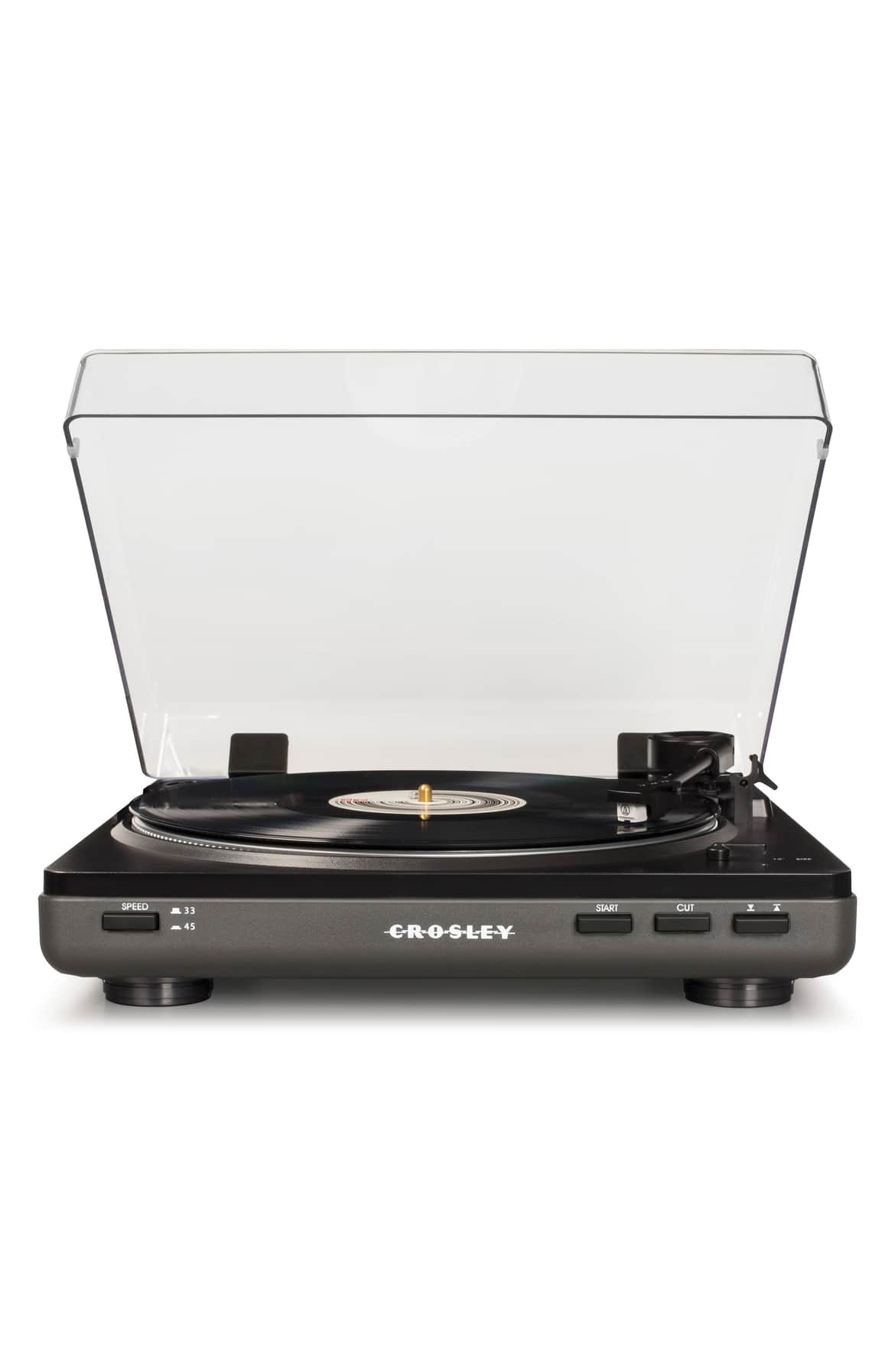 <p>A classic belt-driven turntable boasts modern capabilities with a vintage-inspired aesthetic.{&amp;nbsp;}Price $129.95. (Image: Nordstrom){&amp;nbsp;}</p><p></p>