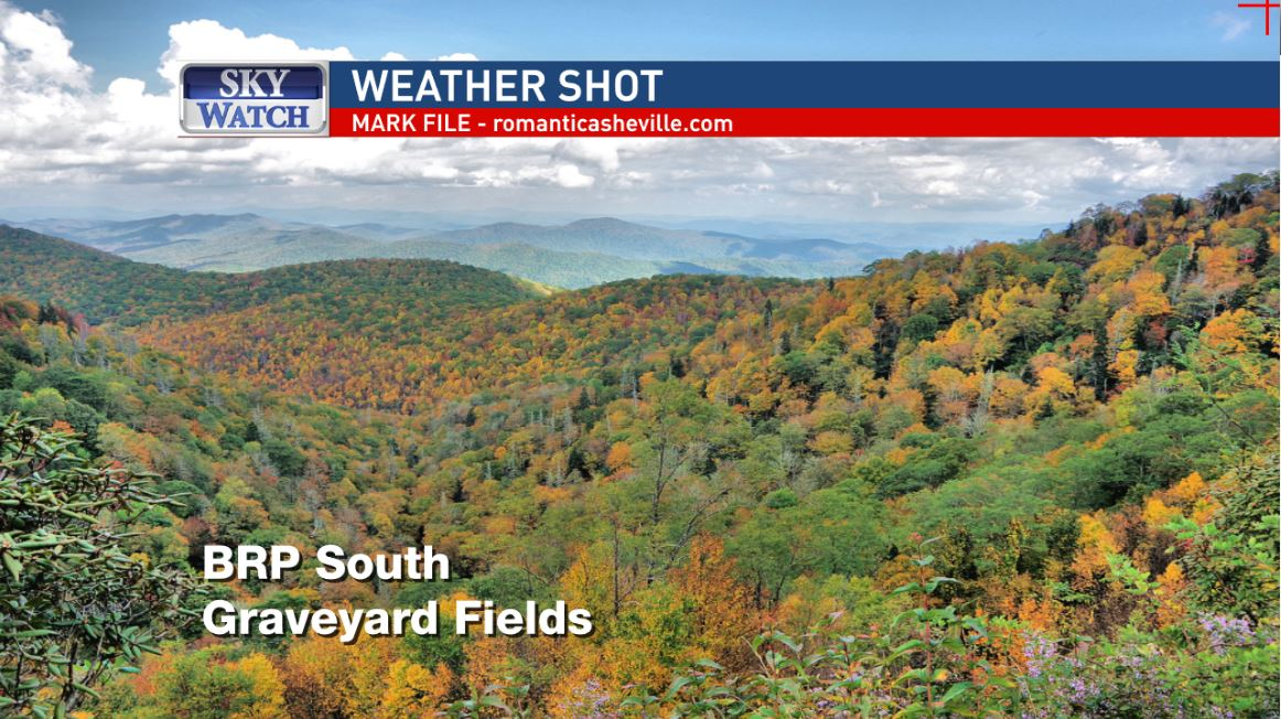 <p>The weekend weather improves though, as more sunshine breaks through the clouds, mostly on Sunday, making it a great day to check out fall color. (Photo credit: Mark File, romanticasheville.com)</p>