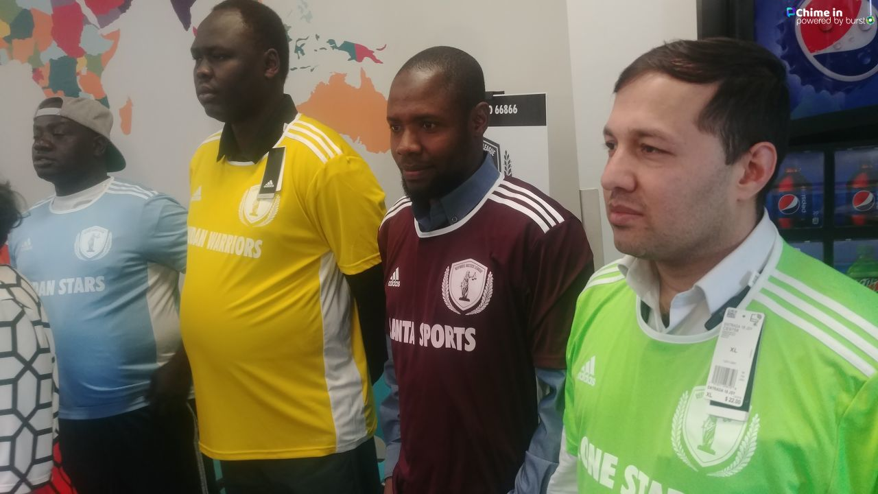 Refugee soccer league and community leaders to display newly donated jerseys. (Photo: KUTV)