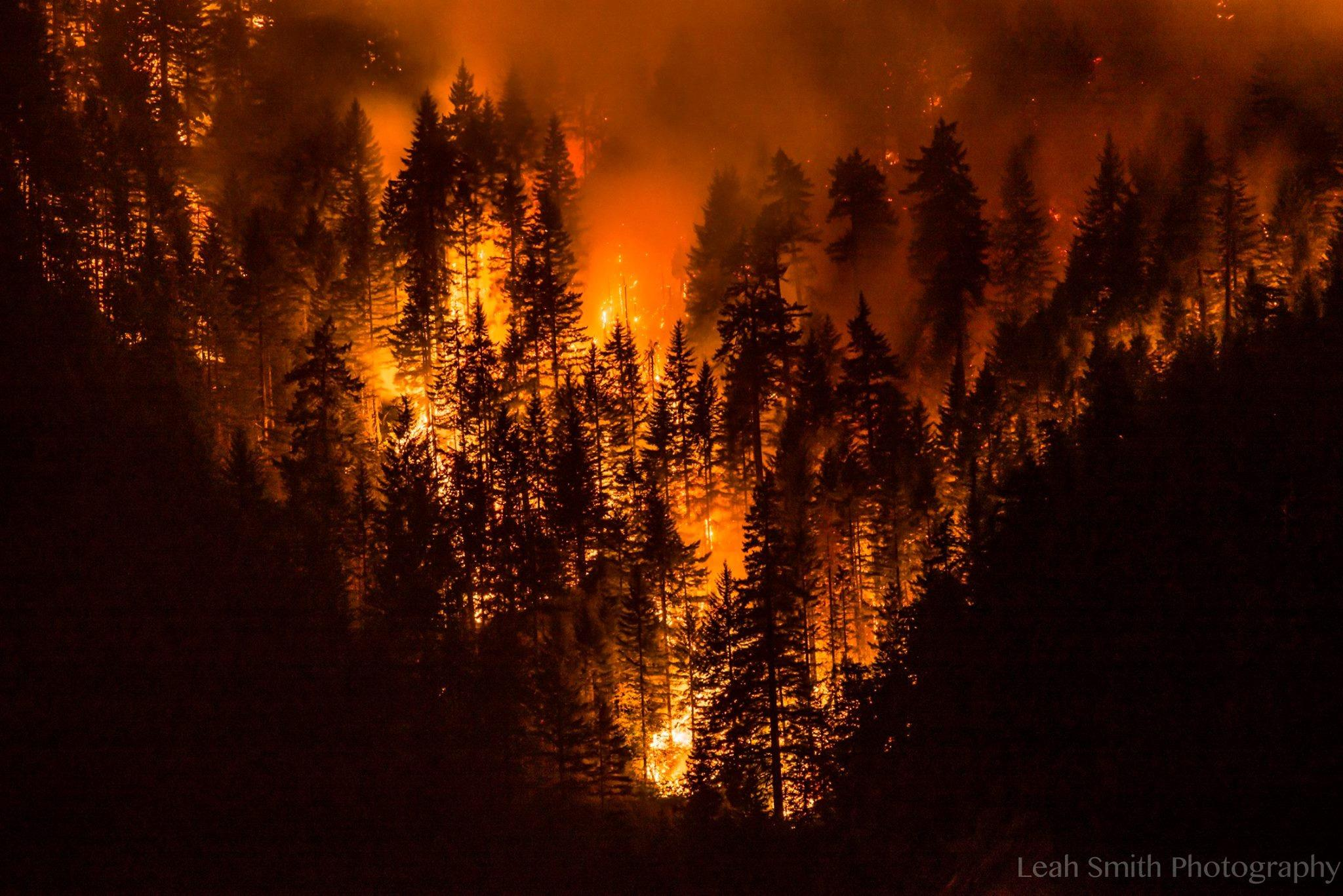 Photo of the Eagle Creek Fire taken on Wednesday, September 13, 2017. Photo by Leah Smith