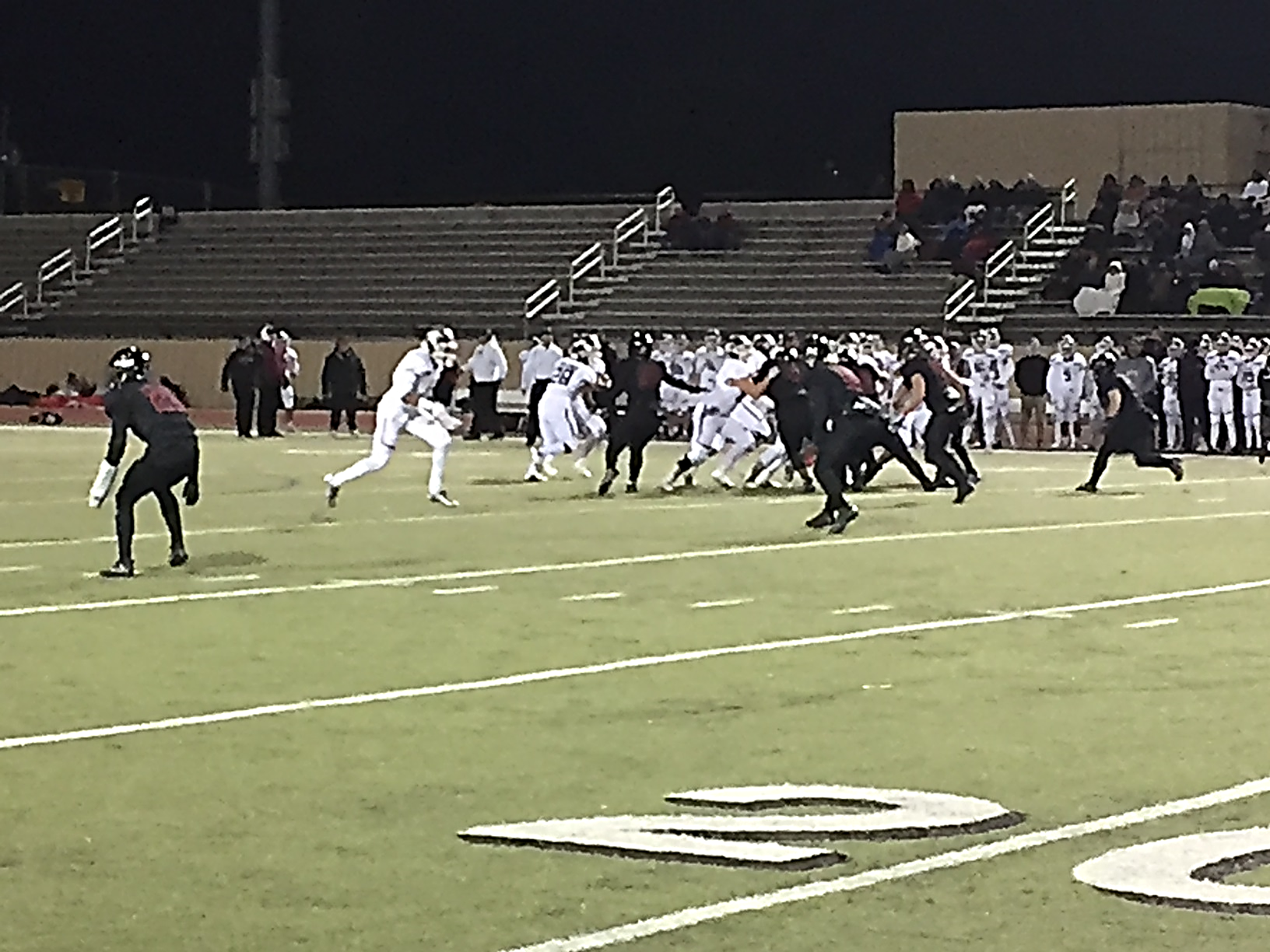 The Westmoore Jaguars face off against the Jenks Trojans during week 9 of high school football on Friday, October 27, 2017. (David Young/KOKH)<p></p>