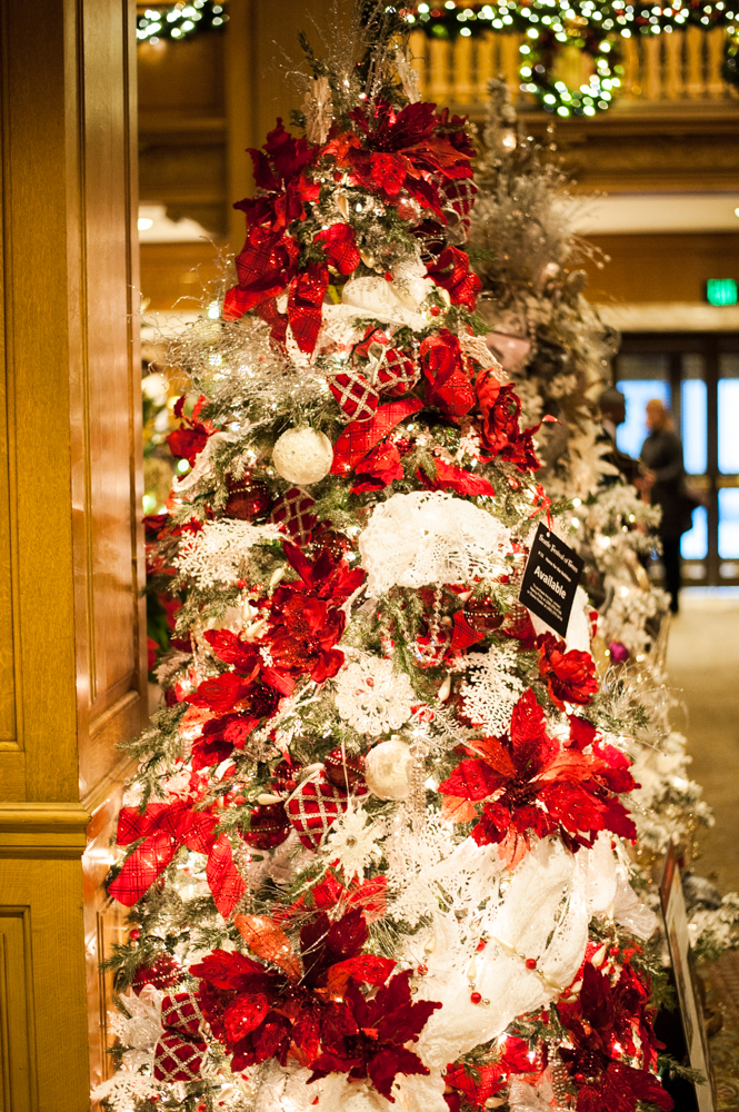 <p>Home For The Holidays - 7.5 feet tall, a charmingly old fashioned tree. Located in the Fairmont Olympic Hotel in downtown Seattle, the annual Festival of Trees has officially kicked off this holiday season. Patrons can view the trees on display through December 2, 2018 - or bid on them for their home/office. Proceeds benefit Seattle Children's Hospital. (Image: Elizabeth Crook / Seattle Refined)</p>