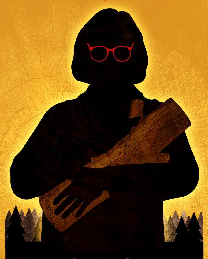 "Detail from the poster for ""I Know Catherine, The Log Lady."""