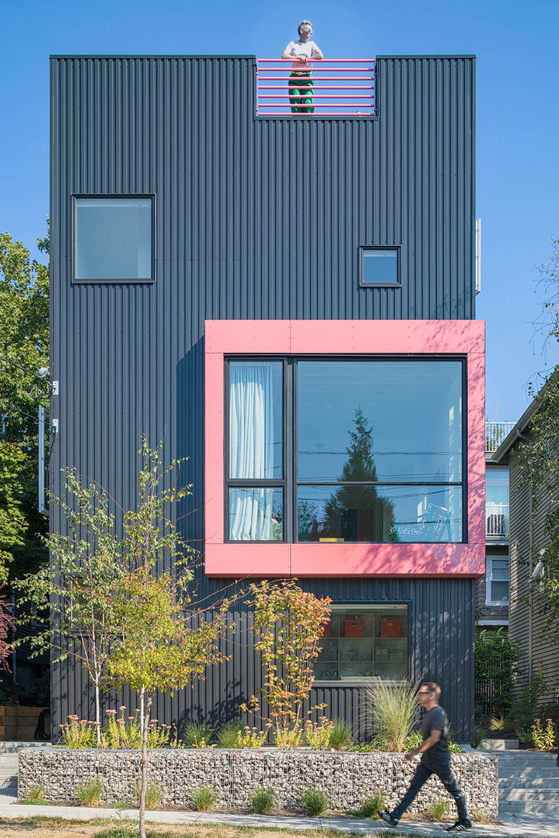 "This week we're previewing houses from Seattle's 2019 Modern Home Tour, happening Saturday, April 27.{&nbsp;} Our second home is actually three units in one in Central District, built in 2018. Each unit has three beds, and 2-3 baths. Units A and B are 1,400 square feet, and C is 1,850.{&nbsp;}The interiors of the townhomes are large, airy, open spaces that take advantage of the property's mostly western views. Seattle muralist SAM WOOD WILSON painted a custom geometric mural which covers the rooftop area. A private and lushly landscaped walkway between the street and the alley leads you to each entrance.{&nbsp;}Best Practice Architecture, Hybrid Design, and Steven Lazen;{&nbsp;}Cabinetry: Abodian; Interior:{&nbsp;}Kailin Gregga + Steven Lazen,{&nbsp;}Rob Humble.{&nbsp;}More info & tickets at{&nbsp;}<a  href=""http://mads.media/2019-seattle-modern-home-tour/"" target=""_blank"" title=""http://mads.media/2019-seattle-modern-home-tour/"">mads.media/2019-seattle-modern-home-tour</a>{&nbsp;}(Image: Ed Sozinho)"