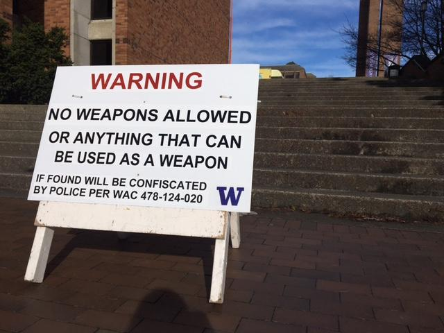 Security was heightened at the University of Washington. (Photo: KOMO News)<p></p>