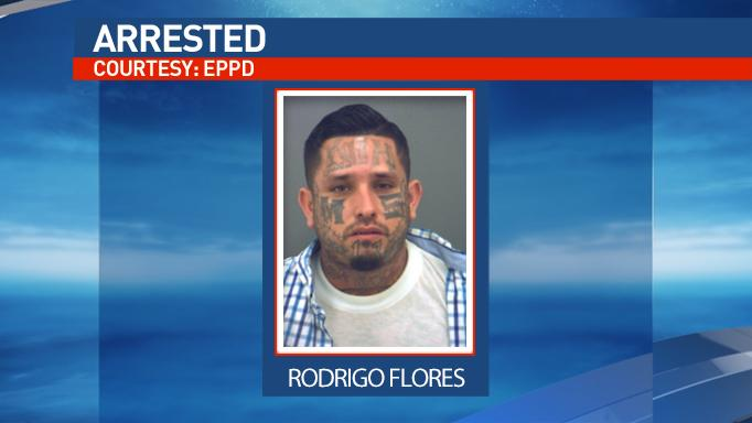 Rodrigo Flores had an outstanding warrant for aggravated assault with a deadly weapon and was booked into the El Paso County jail on a $20,000 bond.