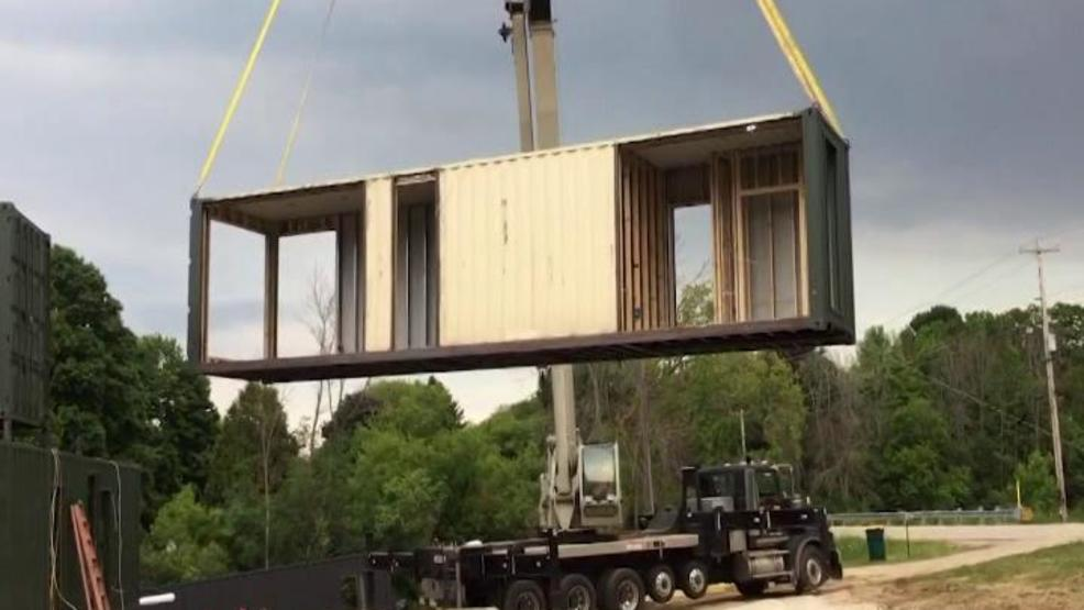 Couple builds home with shipping containers