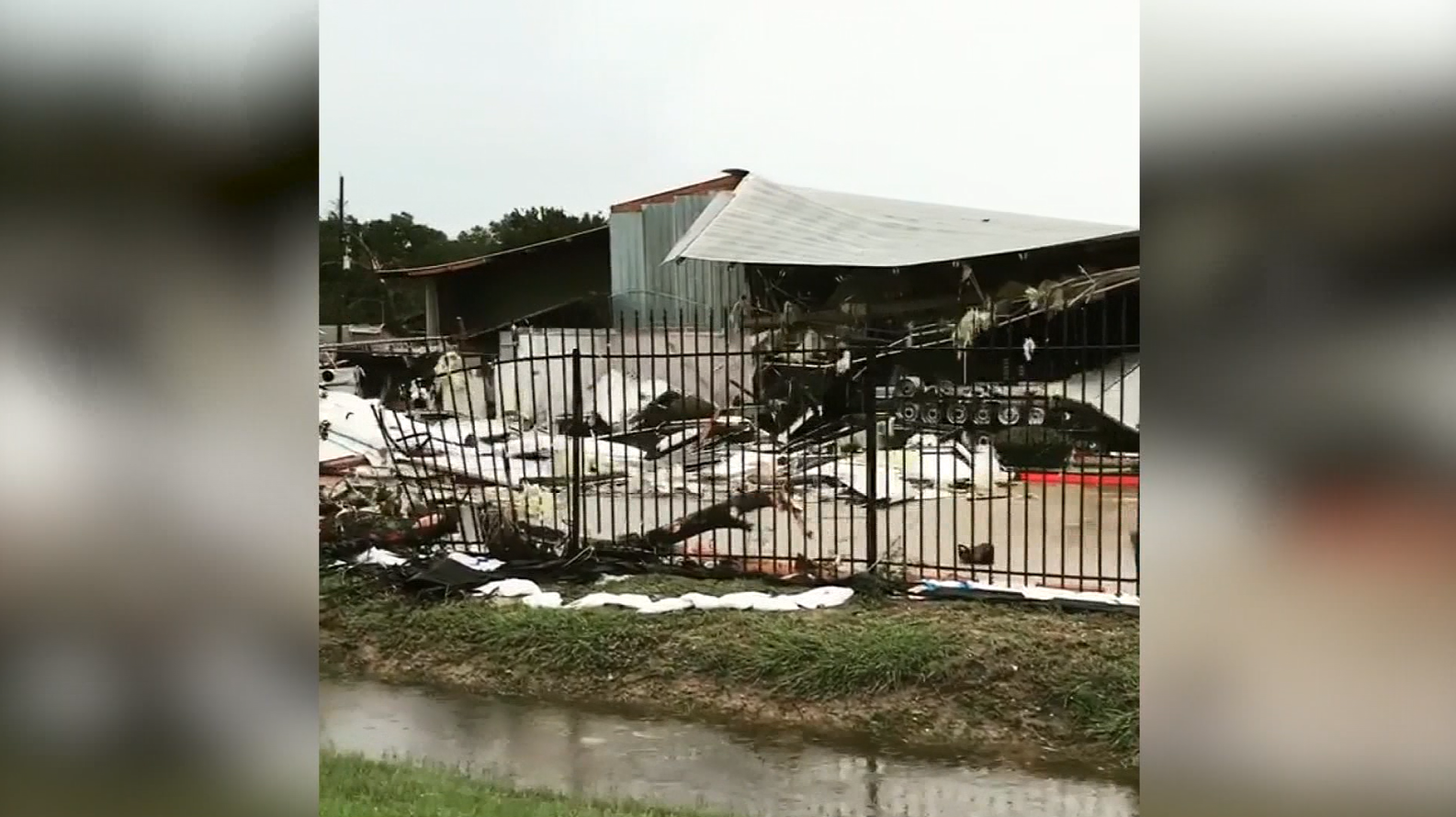 Damage in Katy, Tx (Riane Lindsley - Instagram/CNN)