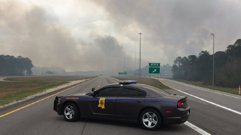 I And US Closures In Mississippi Due To Woods Fire WEAR - Hwy us 90 mississippi map