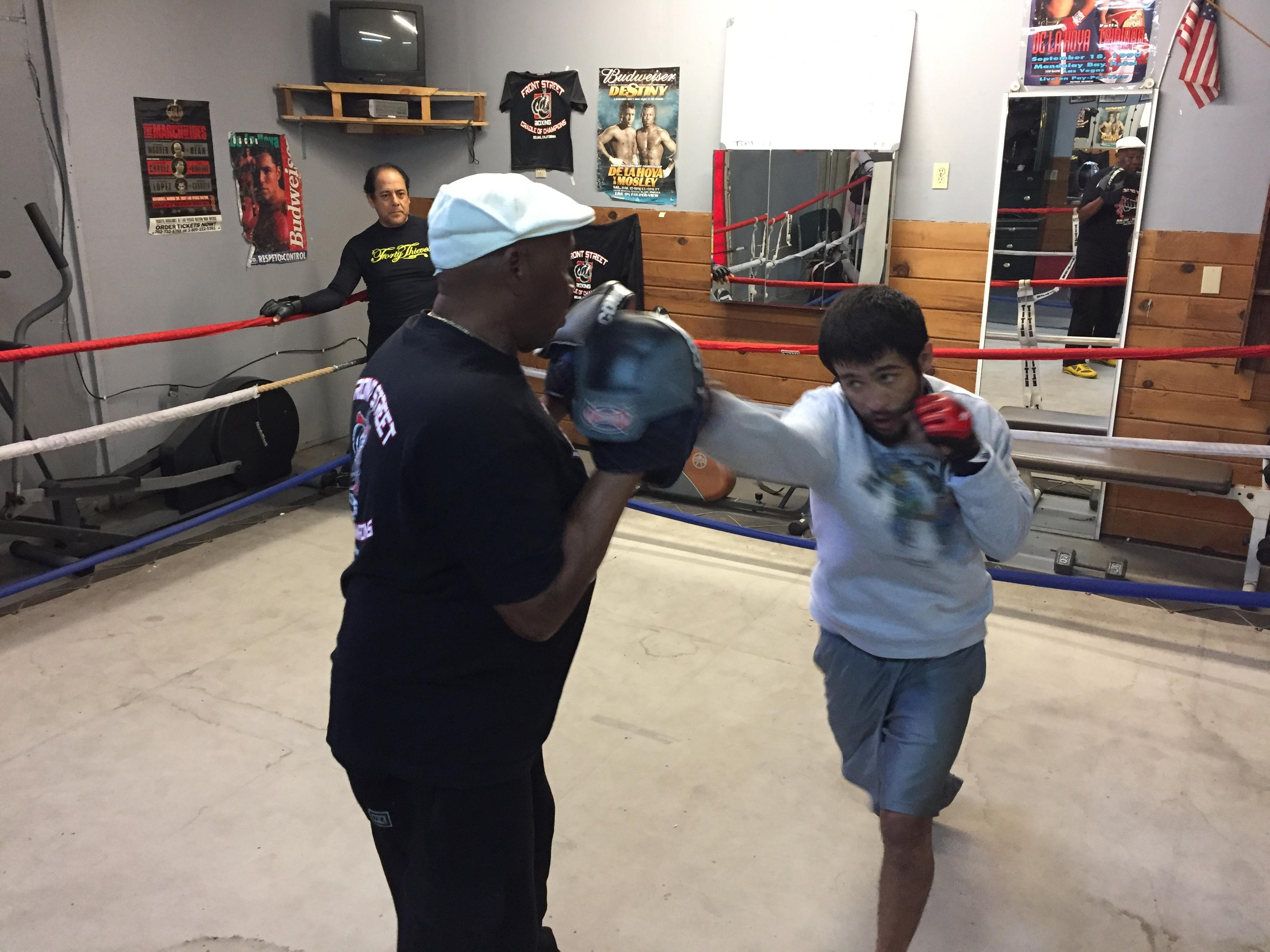 Fierro grew up wrestling, but has been honing technique and learning the stand up aspect of mixed martial arts for the last 3+ years.