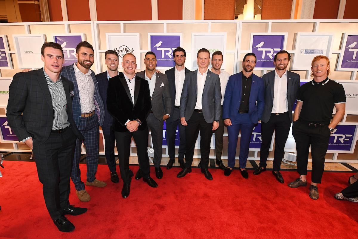 Members of the Vegas Golden Knights hockey team appear on the red carpet for the Rise Up Gala, and event created to raise funds for the Tyler Robinson Foundation, Friday, September 6, 2019, at the Wynn. (Sam Morris/Las Vegas News Bureau)